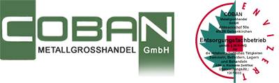 Coban GmbH - Metallgrosshandel - Wir sind Ihr Ansprechpartner in sachen Schrott und Metalle